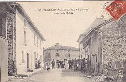 42 - Saint-Germain-la-Montagne - Place De La Mairie (top Animation, Attelage, Edit Chetail, 1908) - Otros Municipios