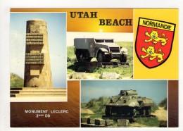 CP 10*15-ZC62-UTAH BEACH MULTIVUES BLASON - Autres Communes