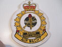 Ecusson Tissu Ancien /Armée /Canada  / ALLEMAGNE/Baden Soelingen/Auf Wacht/Années 1970 -1980  ET118 - Ecussons Tissu