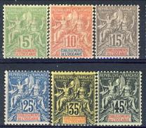 Oceania 1900-07 Serietta N. 14-19 MVLH Cat. € 80 - Unused Stamps