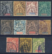 Oceania 1892 Serie N. 1-13 Usati (manca N. 10) Cat. € 150 - Used Stamps