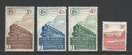 "FR Colis Postaux YT 208 à 211 "" Avec Valeurs Ss Filigrane "" 1943 Neuf* - Paketmarken"
