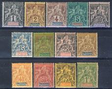 Oceania 1892 Serie N. 1-13 MLH Cat. € 360 - Unused Stamps