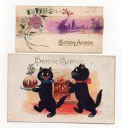 192-1) 2 Cartes De Voeux - Nouvel An