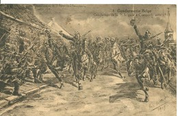Gendarmerie Belge 1914 3eme Brigade 1918 Illutrateur Kettelle - Police - Gendarmerie