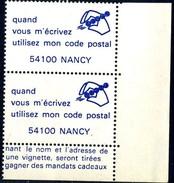 VIGNETTES CODE POSTAL - 54100 NANCY - Commemorative Labels