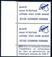 VIGNETTES CODE POSTAL - 63100  CLERMONT FERRAND - Commemorative Labels