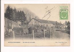 Belgique - BERTRIX-RENAUMONT : Un Coin Du Village - Ferme, Ses Habitants, Attelage à Cheval -  1909 - - Bertrix