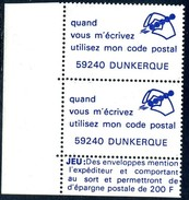 VIGNETTES CODE POSTAL - 59240  DUNKERQUE - Commemorative Labels