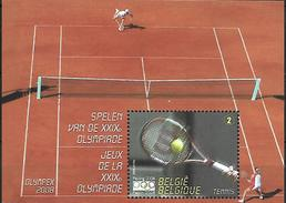 Belg. 2008 - COB N° 3799 ** - JO De Peking (Tennis) - Bloc 157 - Unused Stamps