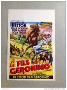 "Charlton Heston Le Fils De Geronimo Susane Morrow""cowboy  Indien Western ""1952 Affiche Ancienne - Affiches & Posters"