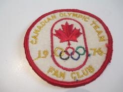 Ecusson Tissu Ancien /Sport / CANADA /Canadian Olympic Team /Fan Club / 1976      ET137 - Patches