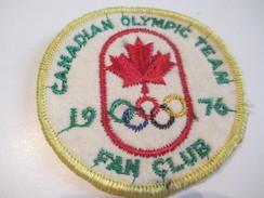 Ecusson Tissu Ancien /Sport / CANADA /Canadian Olympic Team /Fan Club / 1976      ET138 - Patches
