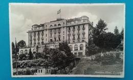 HOTEL MONTANA  LUCERNE SVIZZERA CARTOLINA FORMATO PICCOLO   1959 - Hotels & Restaurants