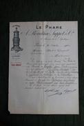 """Lettre Ancienne - PARIS - """" LE PHARE """", A.REVEILHAC, LUPPOT Et Cie - France"""