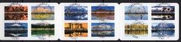 France 2017.Carnet Paysages Reflets Du Monde.Montagnes .Cachet Rond.Mont Fuji-Mont-blanc-MonShompole-Dolomites Etc. - Carnets