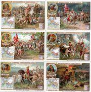 Trade Cards Liebig. S 0824. Série De 6. La Migration Des Peuples. Alaric, Genseric, Théodoric, Attila, Aétius, Odoacre. - Liebig
