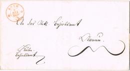 20954. Envuelta KULM (Argovia) Aaugau 1850. Suisse - 1843-1852 Kantonalmarken Und Bundesmarken