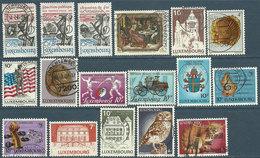 Luxembourg 1984-1985  17 TP Oblitérés