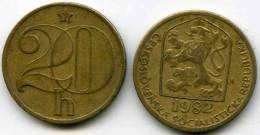 Tchécoslovaquie Czechoslovakia 20 Haleru 1982 KM 74 - Tschechoslowakei