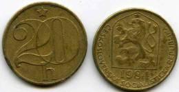Tchécoslovaquie Czechoslovakia 20 Haleru 1984 KM 74 - Tschechoslowakei