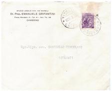 STORIA POSTALE - ITALIA - ANNO 1959 - STUDIO LEGALE DI EMANUELE GRIFANTINI - CAMERINO - AVV M. CINGOLANI - RECANATI - - 1946-60: Storia Postale