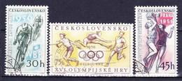 Tchécoslovaquie 1956 Mi 965-7 (Yv 855-7), Obliteré - Used Stamps