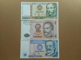 Peru 10,100,1000 Intis 1987-1988 (Lot Of 3 Banknotes) - Perú