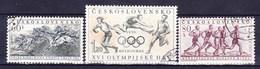 Tchécoslovaquie 1956 Mi 981-3 (Yv 855-7 B), Obliteré - Used Stamps