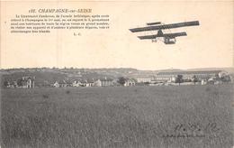 CHAMPAGNE Sur SEINE  -   Le Lieutenant Cambreros  , Le L'armée Hellenique , ..est Reparti Le 3 Mai...( Aviation ) - Champagne Sur Seine