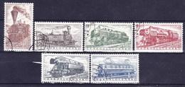 Tchécoslovaquie 1956 Mi 988-93 (Yv 875-80), Obliteré - Czechoslovakia