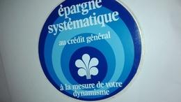 Epargne Systematique Au Credit Général à La Mesure De Votre Dynamisme - Autocollants