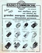 Catalogue De 4 Pages : Matériel Radio : Platines, Amplis, Tuners, HP, Baffles, Magnétophones. - Littérature & Schémas