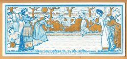 Victorian Seasonal  Greeting Card Playing Ball  Egc59 - Old Paper