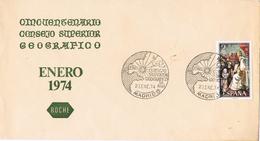 20960. Carta MADRID 1974. Consejo Superior Geografico. Geografia. 50 Aniversario - 1931-Hoy: 2ª República - ... Juan Carlos I