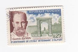 0,25 FRANC - Gaston PALMON - 2eme Centenaire De L'Ecole Vétérinaire De Maison Alfort - France