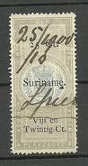 NEDERLAND Netherlands Suriname Revenue Tax O 1900 - Surinam ... - 1975