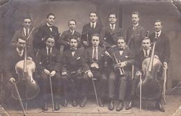 25941- 2cpa- ANGERS Symphonie De La Madeleine - 1918 -orchestre Musicien - J-Bte DEWEIRT -  Bouffioulx -contre Basse