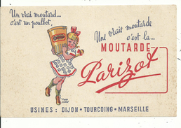 1 Buvard Publicitaire Moutarde PARIZOT.....pub D'après Poulbot........à Voir... - Buvards, Protège-cahiers Illustrés