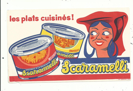 1 Buvard Publicitaire SCARAMELLI.......les Plats Cuisinés.......à Voir... - Buvards, Protège-cahiers Illustrés