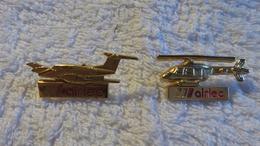 PIN'S Lot De 2 Thème Aviation AIRLEC - Airplanes