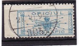 #6855 Romania, National Cinderella, Telegraphic Office 1935, Used 1946 - Télégraphes