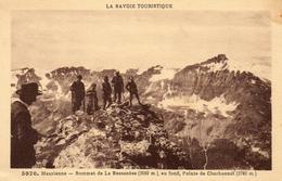 612Bc  73 Maurienne Sommet De La Bessanése Au Fond Pointe De Charbonnel Alpinisme - France