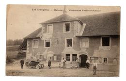 25 LES GRANGETTES Maison Commune écoles Et Chalet Voiture Ancienne Animée 2 Scans
