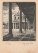 9545) ROMA BASILICA DI S. PAOLO ILLUSTRATORE DANDOLO BELLINI NON VIAGGIATA 1949 Circa - Roma