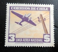CHILE CORREO AEREO ** MNH 1947 Mi:CL 279a, Sn:CL C120, Yt:CL PA117  ** - Cile
