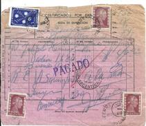 64534 ARGENTINA CERTIFICADO POR EXPRESO AÑO 1954 STAMPS EVITA EVA PERON NO POSTCARD - Documentos Antiguos
