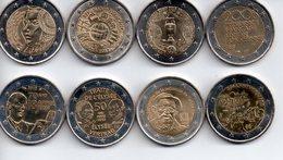 2 EUROS Commémoratifs FRANCE Années Diverses ** 8 Piéces ** - France