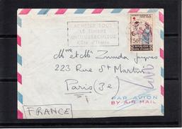 Lettre De ABIDJAN    Cote D Ivoire  Annee 1964 CROIX ROUGE NATIONALE Seul Sur Lettre Pour PARIS 3 - Côte D'Ivoire (1960-...)
