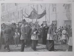 La Fete Dieu En Turquie CONSTANTINOPLE   Istambul     Le Dais  Procession Catholique  + Russie Saint-petersbourg - Non Classés